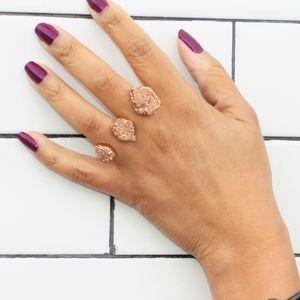 Kendra Scott Rose Gold Naomi Two Finger Ringer